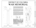 District of Columbia War Memorial, West Potomac Park, Washington, District of Columbia, DC HABS DC-857 (sheet 1 of 6).png