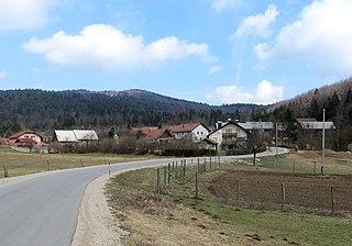 Dobec Village in Inner Carniola, Slovenia