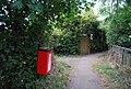 Dog poo bin, footpath off Leigh Rd - geograph.org.uk - 1502777.jpg