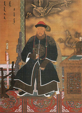Shunzhi Emperor - Prince Regent Dorgon in imperial regalia. He reigned as a quasi emperor from 1643 to his death in 1650, a period during which the Qing conquered almost all of China.