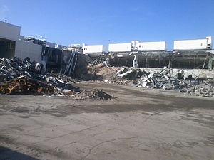 Downey Studios - Studio buildings being demolished in November 2012