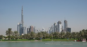 Safa Park - Image: Downtown Burj Dubai and Business Bay, seen from Safa Park