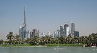 Downtown Burj Dubai and Business Bay, seen from Safa Park