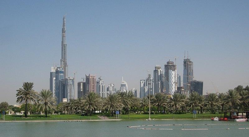 File:Downtown Burj Dubai and Business Bay, seen from Safa Park.jpg