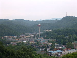 Gatlinburg, Tennessee - Gatlinburg is a popular tourist destination bordering the Great Smoky Mountains National Park.