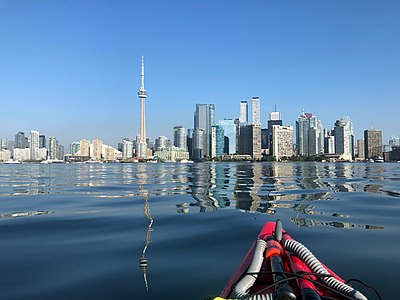 Kayak view of Toronto