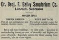 "Dr. Benj. F. Bailey Sanatorium Co. (""American medical directory"", 1906 advert).png"