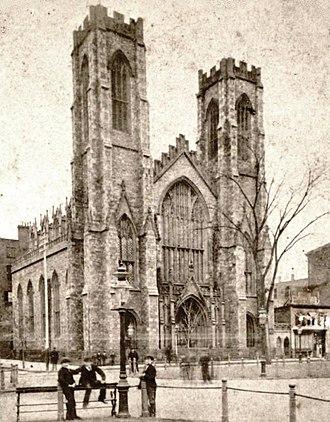 "University Place (Manhattan) - ""Dr. Hutton's Church on University Place"" (c. 1856–1879)"