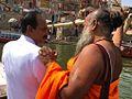 Dr Pankaj Naram Swami Omcar at Ganga River.jpg