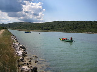 Dragonja river in Istria