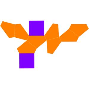 Truncated square trapezohedron - Image: Dual gyroelongated square dipyramid net