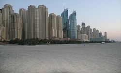 Dubai Marina from Beach on 12 March 2007 Pict 1.jpg
