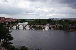 Province of Zamora - Bridge over the River Duero at Zamora