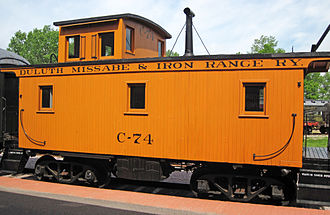 Duluth, Missabe and Iron Range Railway - Caboose  C-74, built in 1924, operating in train service at Mid-Continent Railway Museum.