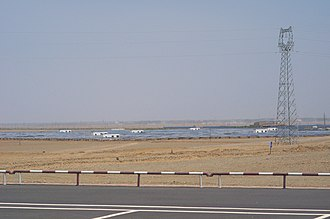 Solar power in China - A part of Gansu Dunhuang Solar Park(10MW, Solar PV)