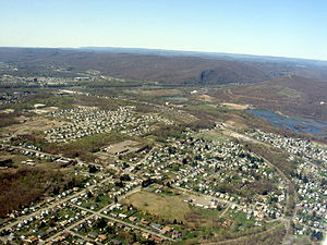 Duryea, Pennsylvania - Aerial view of Duryea, looking southwest