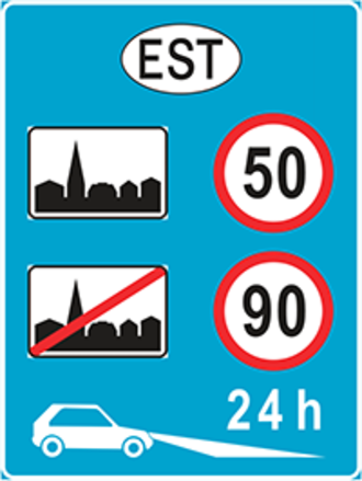 Speed limits in Estonia - National speed limits of Estonia