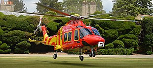 One of the current aircraft in use by Essex & Herts Air Ambulance, an Agusta Westland 169.