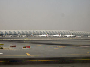 Airport - A picture of Terminal 3 of the Dubai International Airport