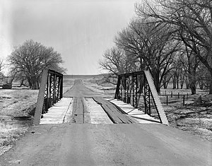 National Register of Historic Places listings in Platte County, Wyoming - Image: EWZ Bridge over East Channel of Laramie River