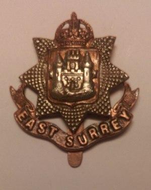 East Surrey Regiment - Regimental cap badge of the East Surrey Regiment.