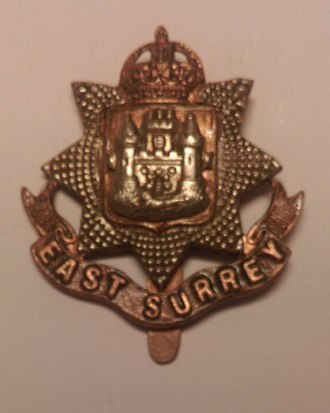 East Surrey Regiment - Regimental cap badge of the East Surrey Regiment.