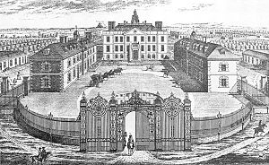 Eaton Hall, Cheshire - The entrance front of the Samwell house