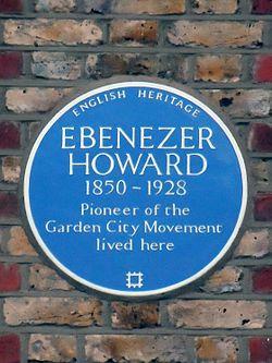 Ebenezer howard blue plaque