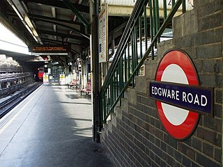 Edgware Road tube station (Circle, District and Hammersmith & City lines)