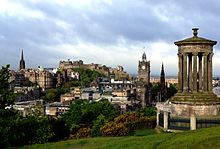 Edinburgh from Calton Hill with Dugald Stewart Monument 3.JPG
