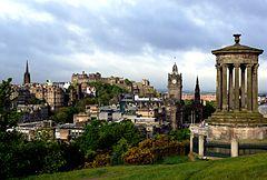 Edinburgh from Calton Hill with Dugald Stewart Monument 3.JPG