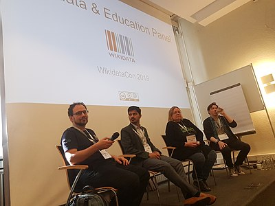 Education panel at WikidataCon 19 (1).jpg