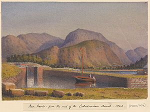 Edward Gennys Fanshawe, Ben Nevis, from the end of the Caledonian Canal, 1843.jpg