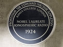 Photo of Edward Victor Appleton blue plaque