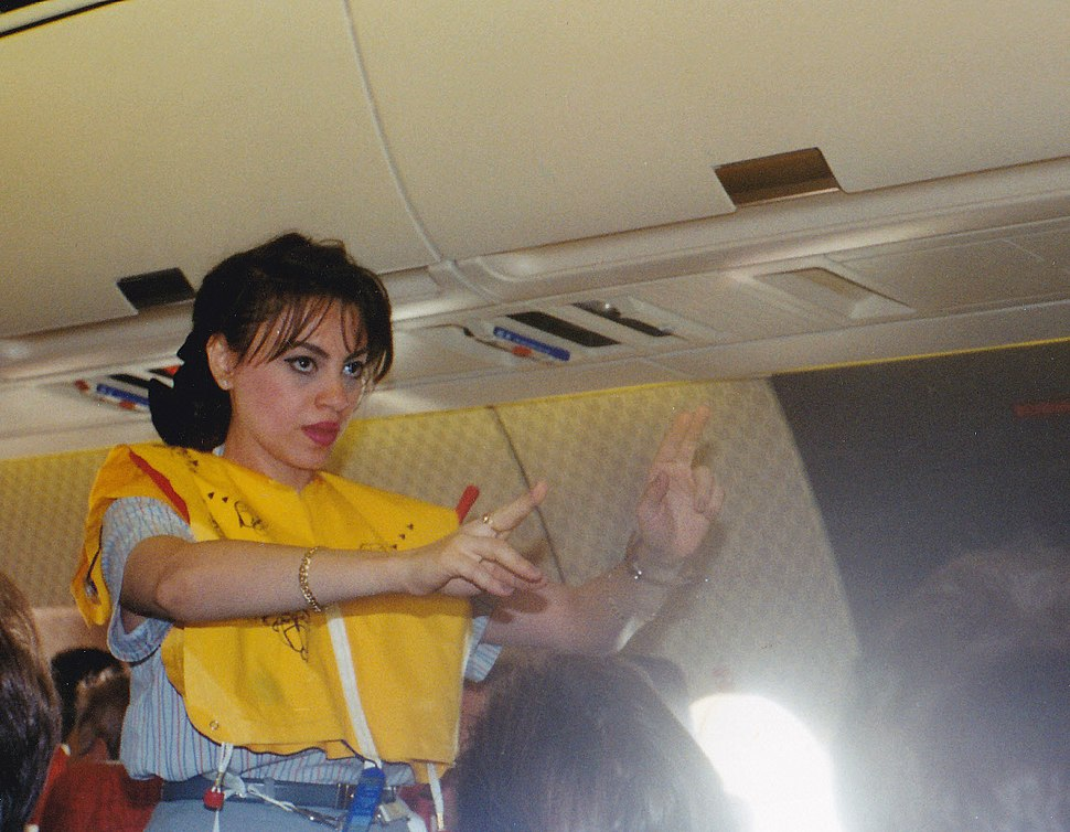 Egypt air Flyght attendant during flight
