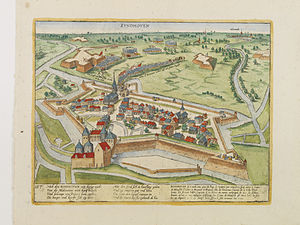 Siege of Eindhoven (1583) - Image: Eindhoven Hogenberg