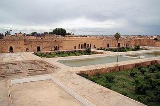 El Badi Palace - Image: El Badi Palace from Wall 2011