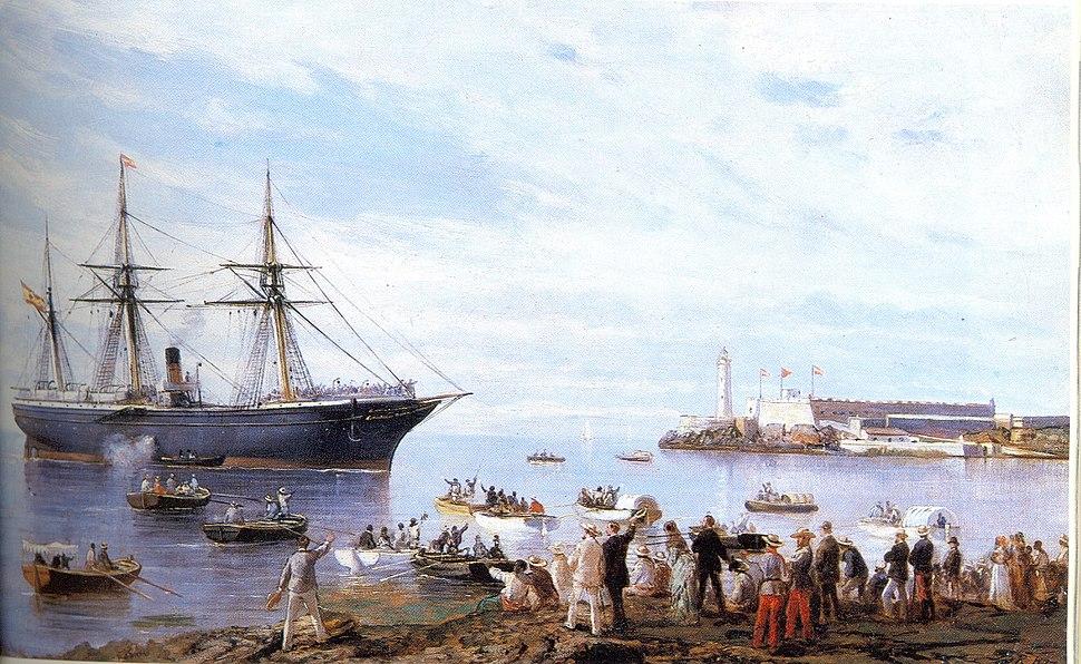 El Correo entrando en el puerto de La Habana