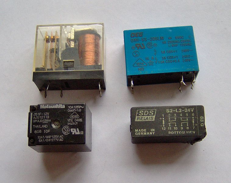 File:Electronic component relays.jpg