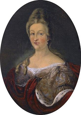 Ernest Ferdinand, Duke of Brunswick-Lüneburg - Eleonore Charlotte of Courland (1686-1748).