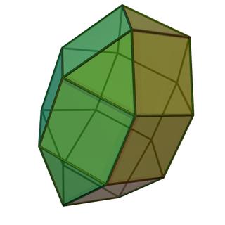 Elongated triangular orthobicupola