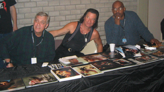 Day of the Dead (1985 film) - Ken Foree and David Emge from Dawn of the Dead and Joseph Pilato from Day of the Dead at a ''Dead'' series convention.