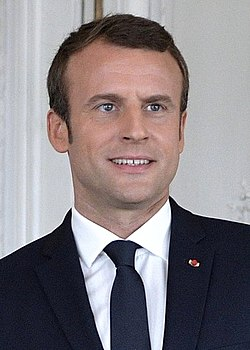 Emmanuel Macron during his meeting with Vladimir Putin, June 2017.jpg