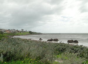 Emu Bay, South Australia - View of Emu Bay and jetty from the picnic area.