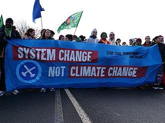 Ende Gelände 2017 - Image: Ende Gelände November 2017 Front banner of demonstration