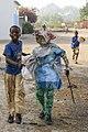 Enfants mimant un rite traditionnel, Sine Saloum, Sénégal.jpg