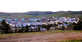 Erdenet District in Orkhon Province, Mongolia