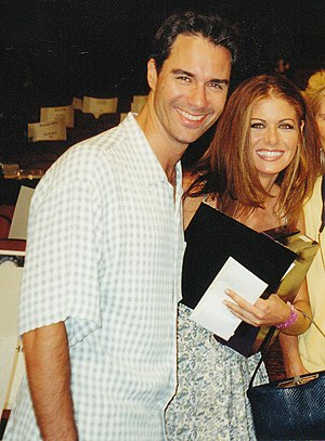 Eric McCormack, Debra Messing at the rehearsal...