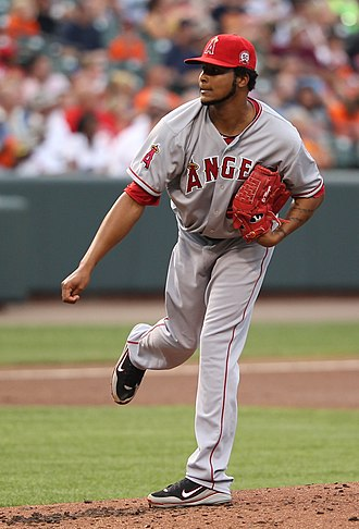 Ervin Santana - Santana pitching for the Los Angeles Angels in 2011