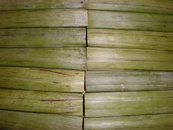 Espasol rolls in banana leaves.JPG